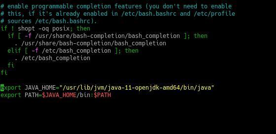 1.- Editing the bash profile
