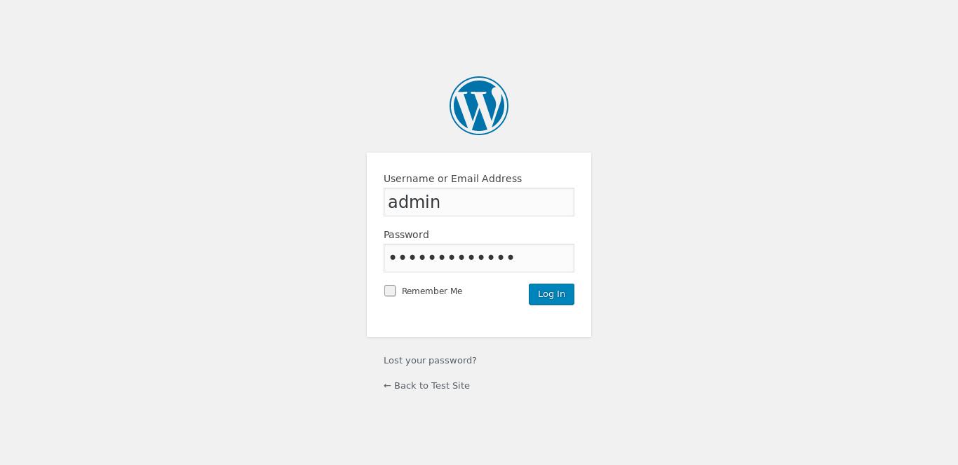 12.- WordPress login