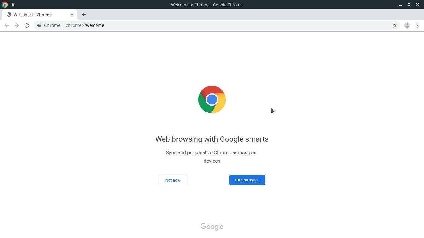 3.- Google Chrome installed