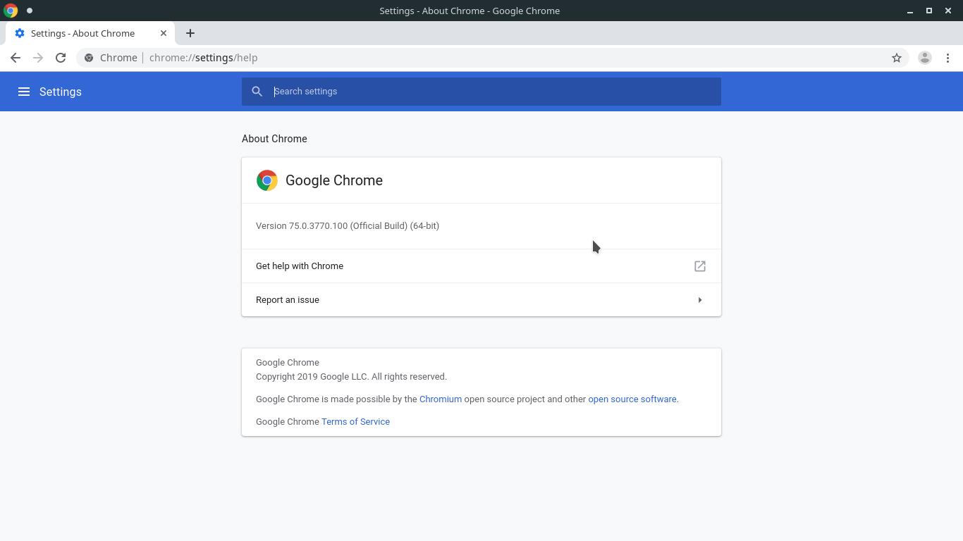4.- Google Chrome running