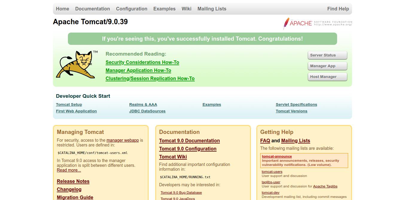 5.- Apache Tomcat on Ubuntu 20.04 / Debian 10