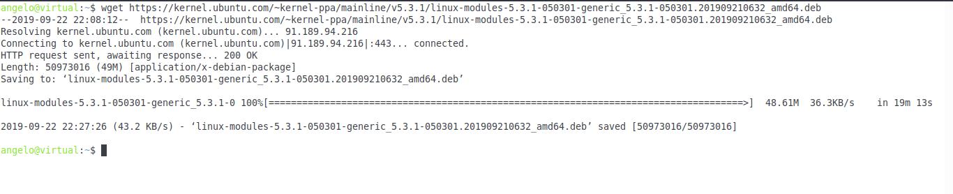 3.- Last kernel 5.3 file to download