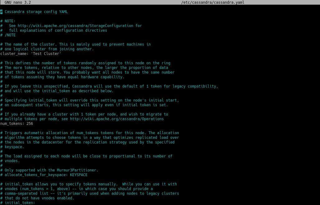 4.- Configuring Apache Cassandra on Debian 10