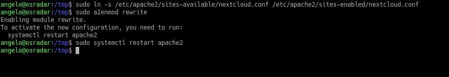 4.- Enabling the new virtualhost