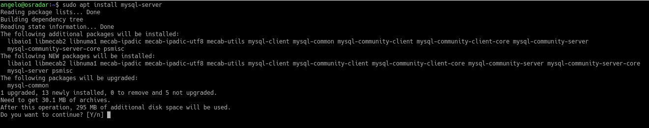 6.- Install MySQL on Debian 10