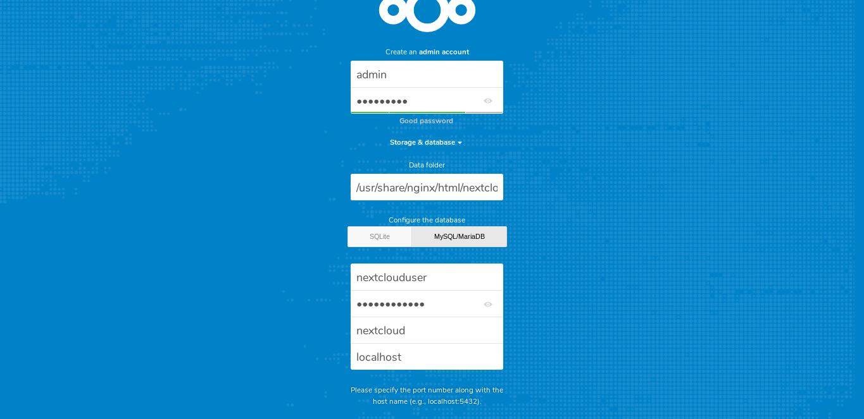 9.- Installing Nextcloud