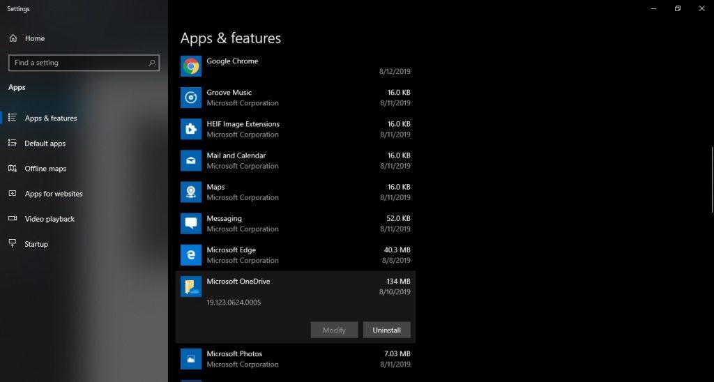 Uninstalling pre-installed apps