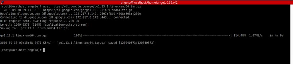 1.- Download GO language on Rocky Linux 8 /CentOS 8 / Fedora 34