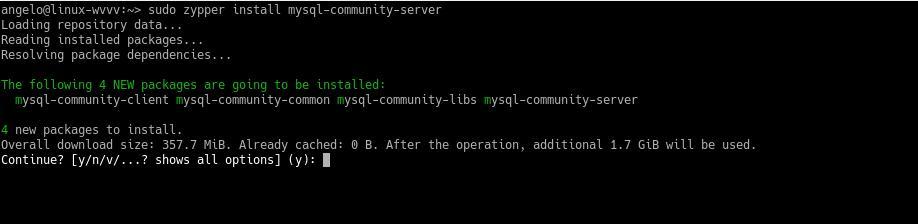 2.- Install MySQL on OpenSUSE