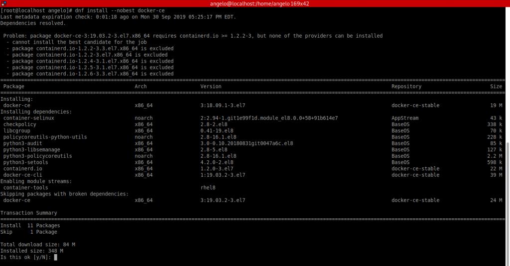 2.- Install Docker on CentOS 8