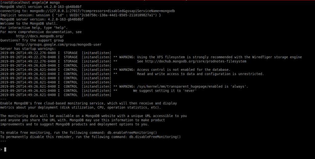 4.- The MongoDB shell