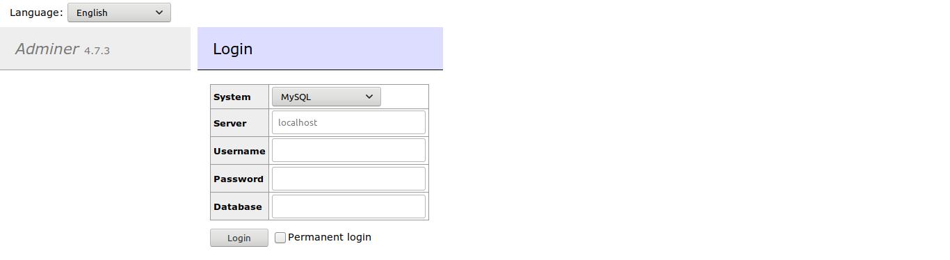 1.- Adminer on Debian 10