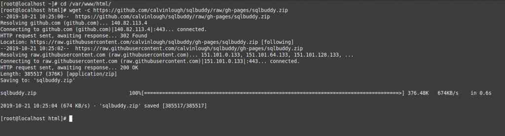 1.- Download SQLBuddy on CentOS 8