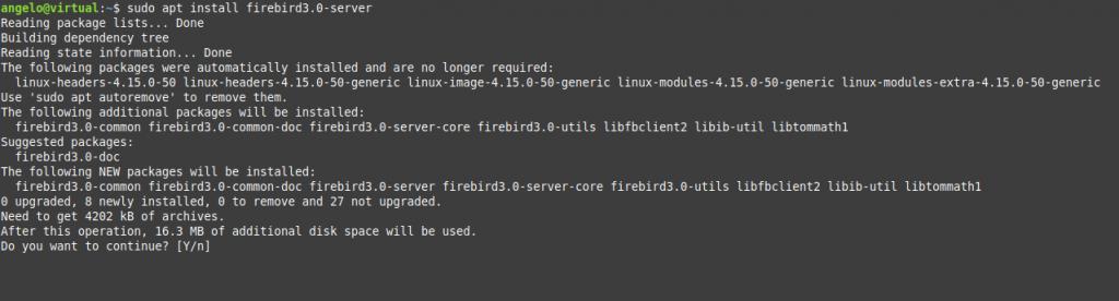 1.- Install Firebird on Ubuntu 20.04 /18.04