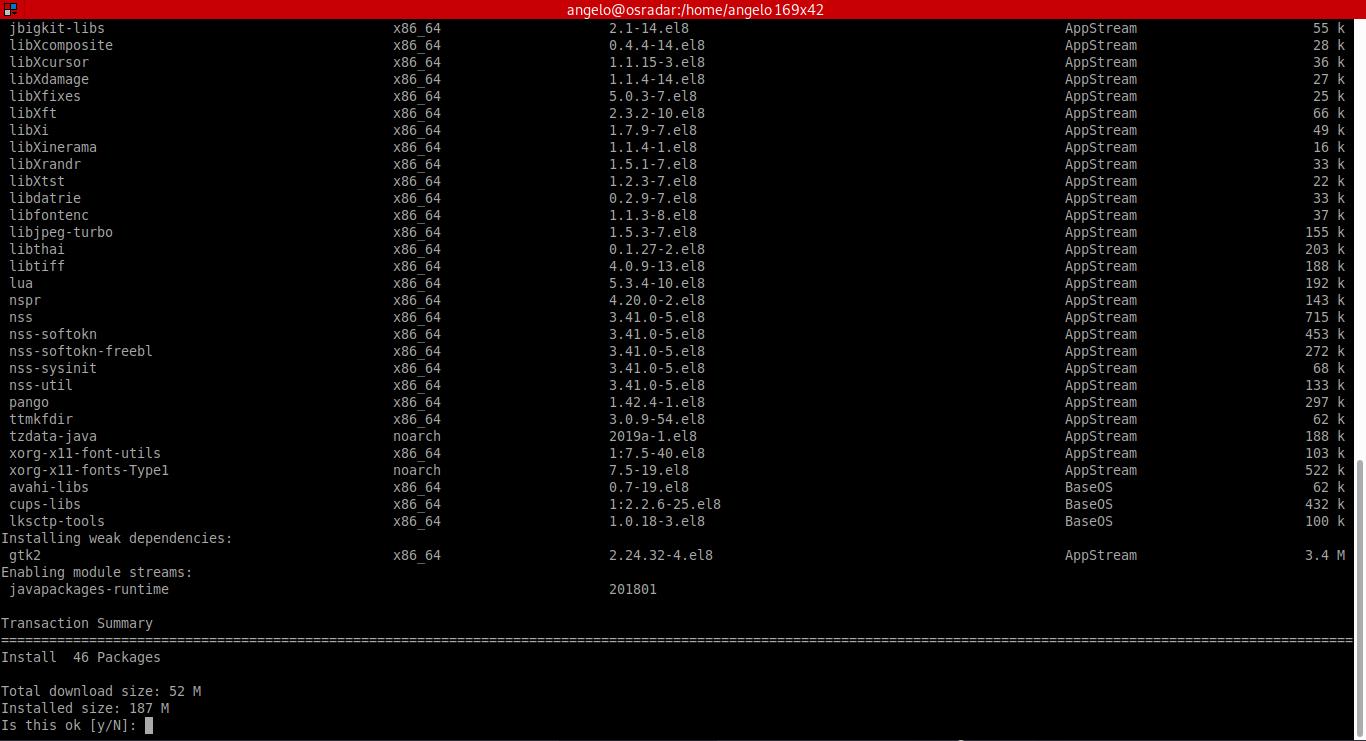 1.- Install Java 1.8 on CentOS 8