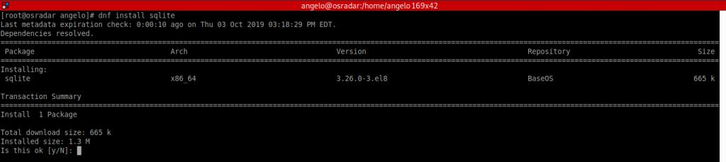 1.- Install SQLite on CentOS 8