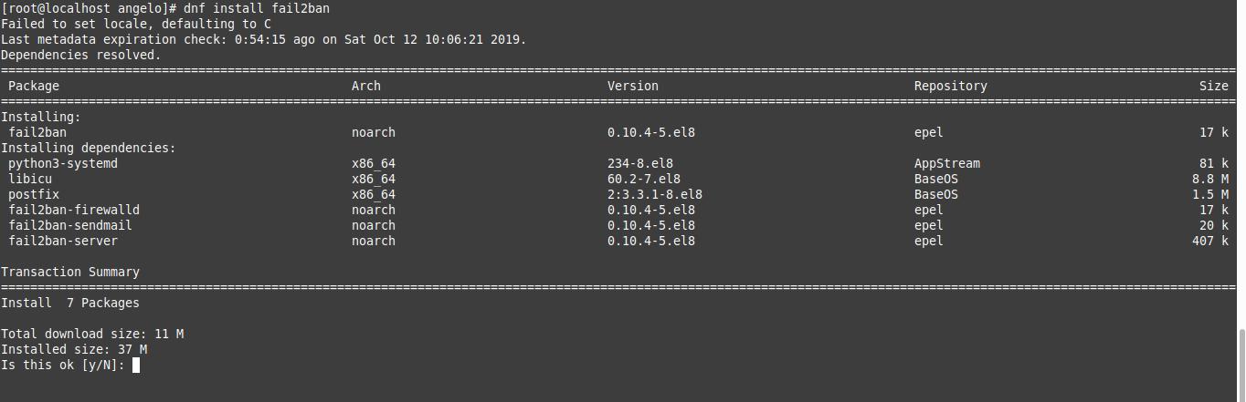 1.- Install Fail2Ban on CentOS 8
