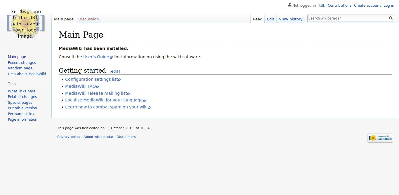 11.- MediaWiki on Debian 10