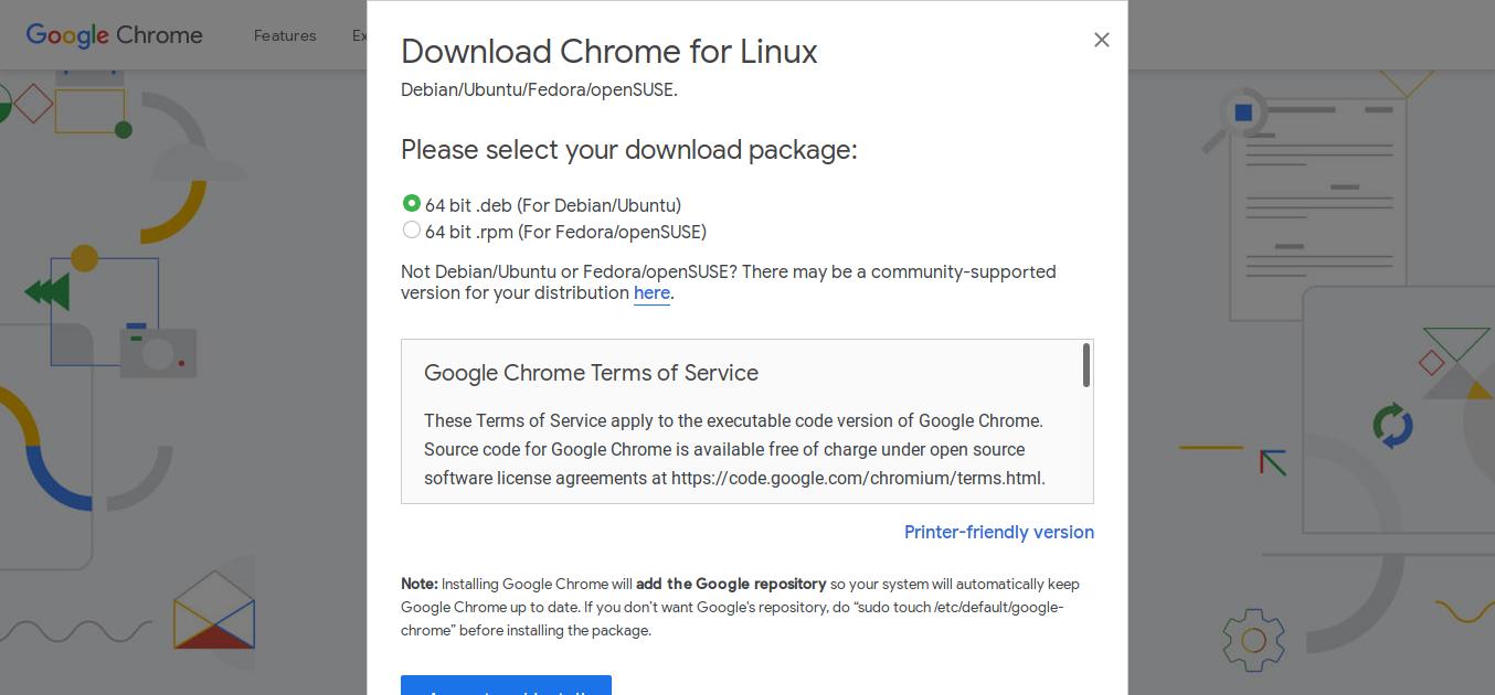 2.- Downloading Google Chrome