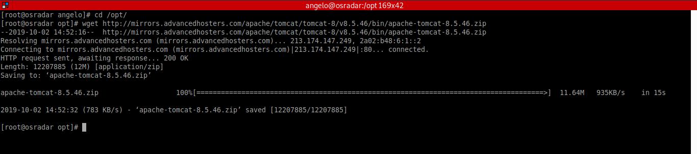 2.- Download Apache tomcat on CentOS 8