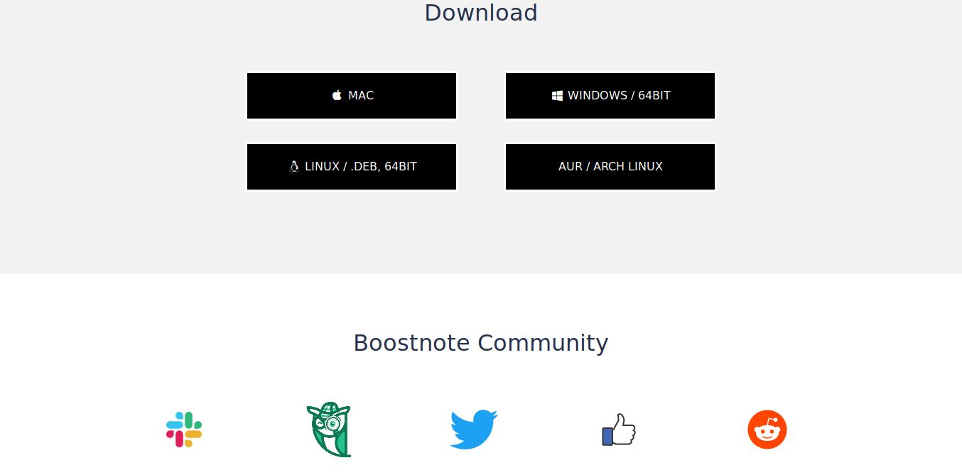 2.- Downloading boostnote