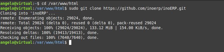 2.- Download and install inoERP on Ubuntu 20.04 / Debian 10