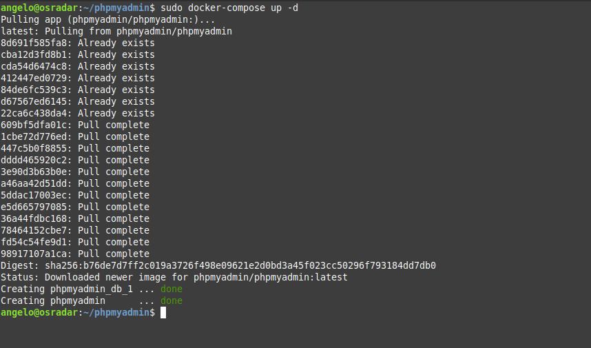 3.- Installing PHPMyAdmin using Docker compose