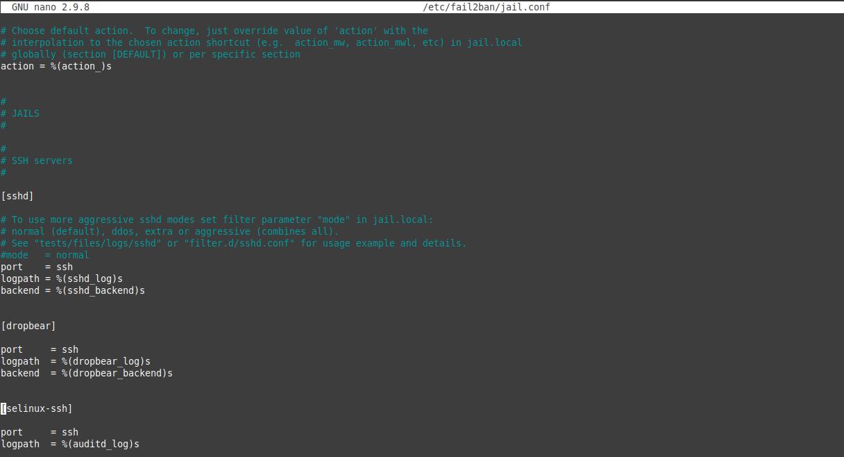 3.- The default configuration