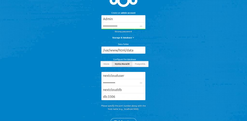 4.- Nextcloud main page