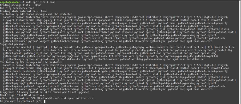 4.- Install Odoo on Debian 10