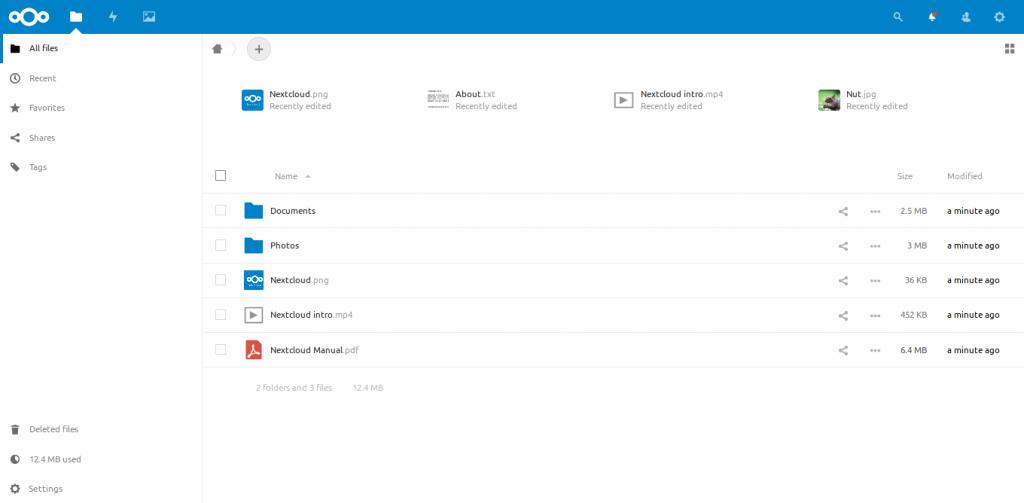 5.- Nextcloud using Docker compose