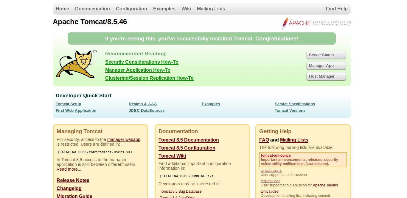 7.- Apache tomcat on CentOS 8
