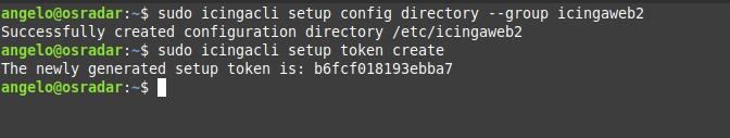 7.- Generating the main toke for icingaweb