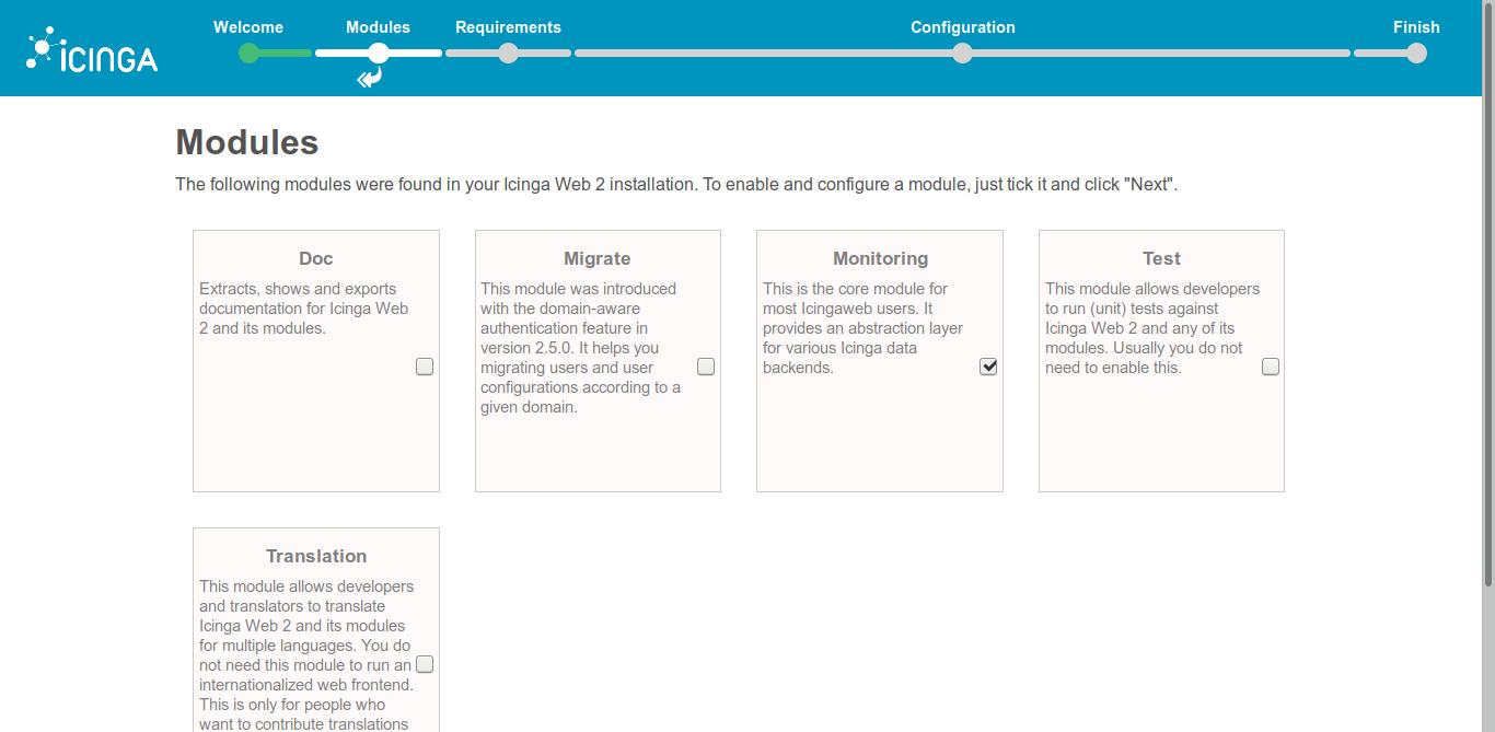 9.- Icinga2 modules