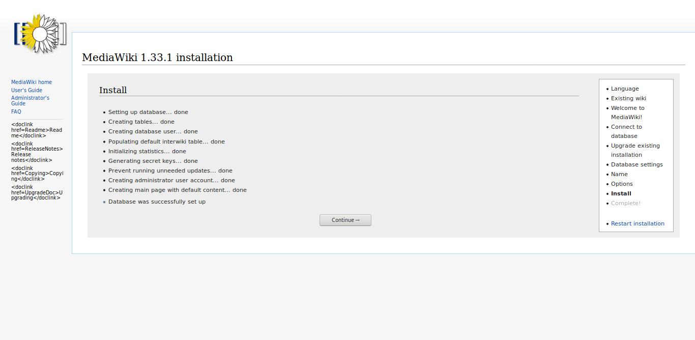 9.- Installing MediaWiki on Debian 10