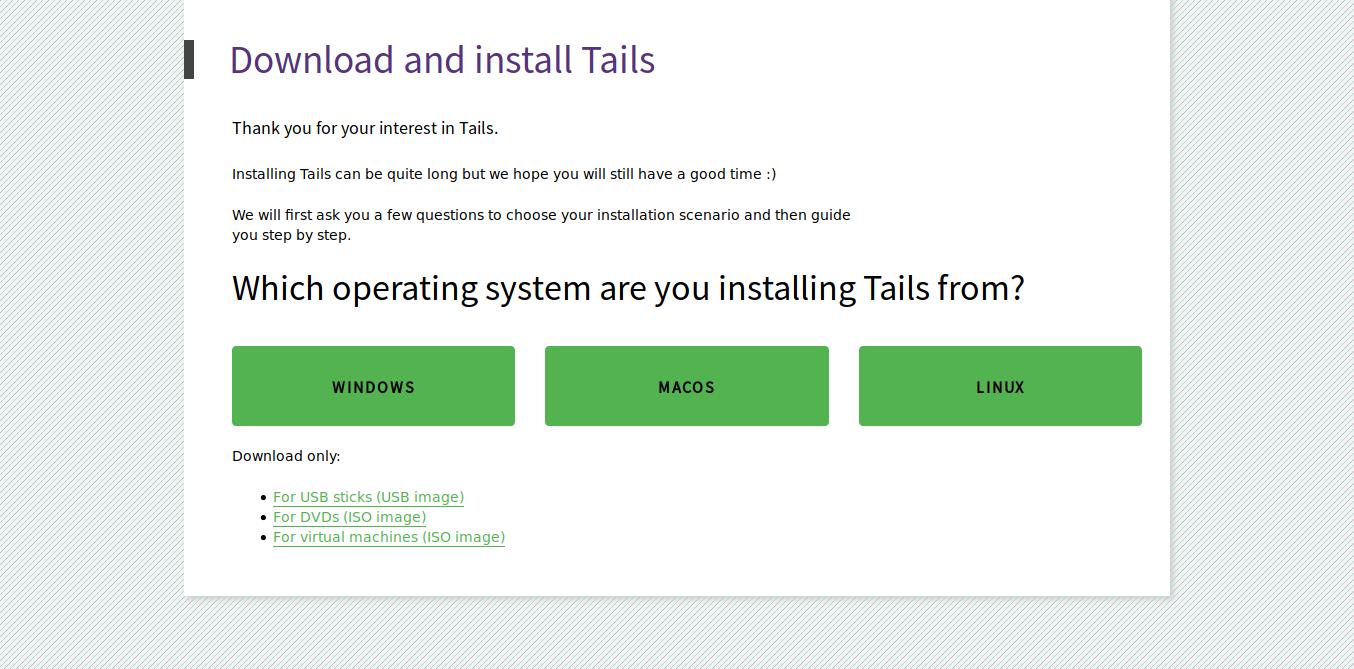 1.- Tails download website