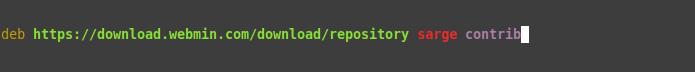 1.- Adding the Webmin repository