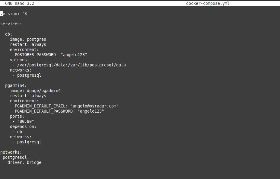 1.- Deploy PostgreSQL using docker compose