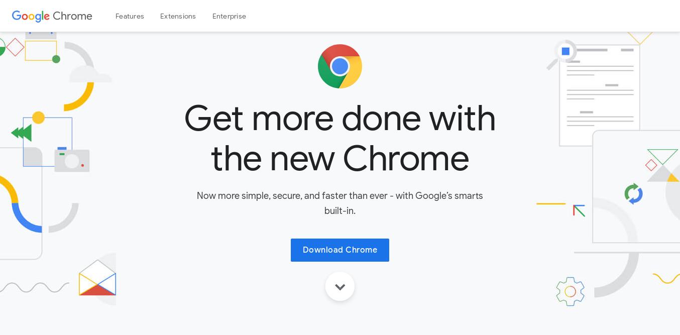 1.- Google Chrome website