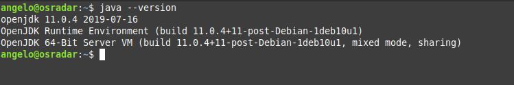 2.- Java version
