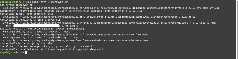 2.- Install ProtonVPN on Debian 10