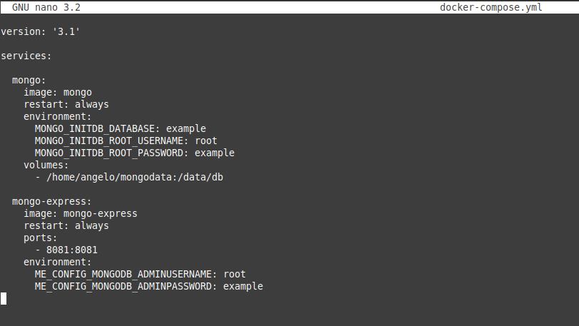 2.- Deploy MongoDB using docker compose