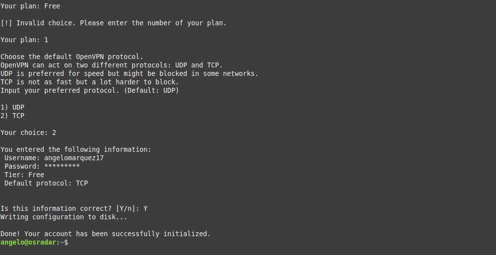 4.- Configuring ProtonVPN
