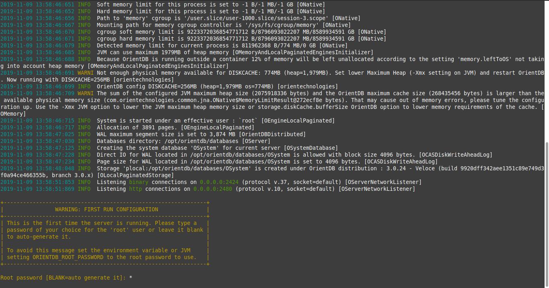 4.- Starting OrientDB on Debian 10