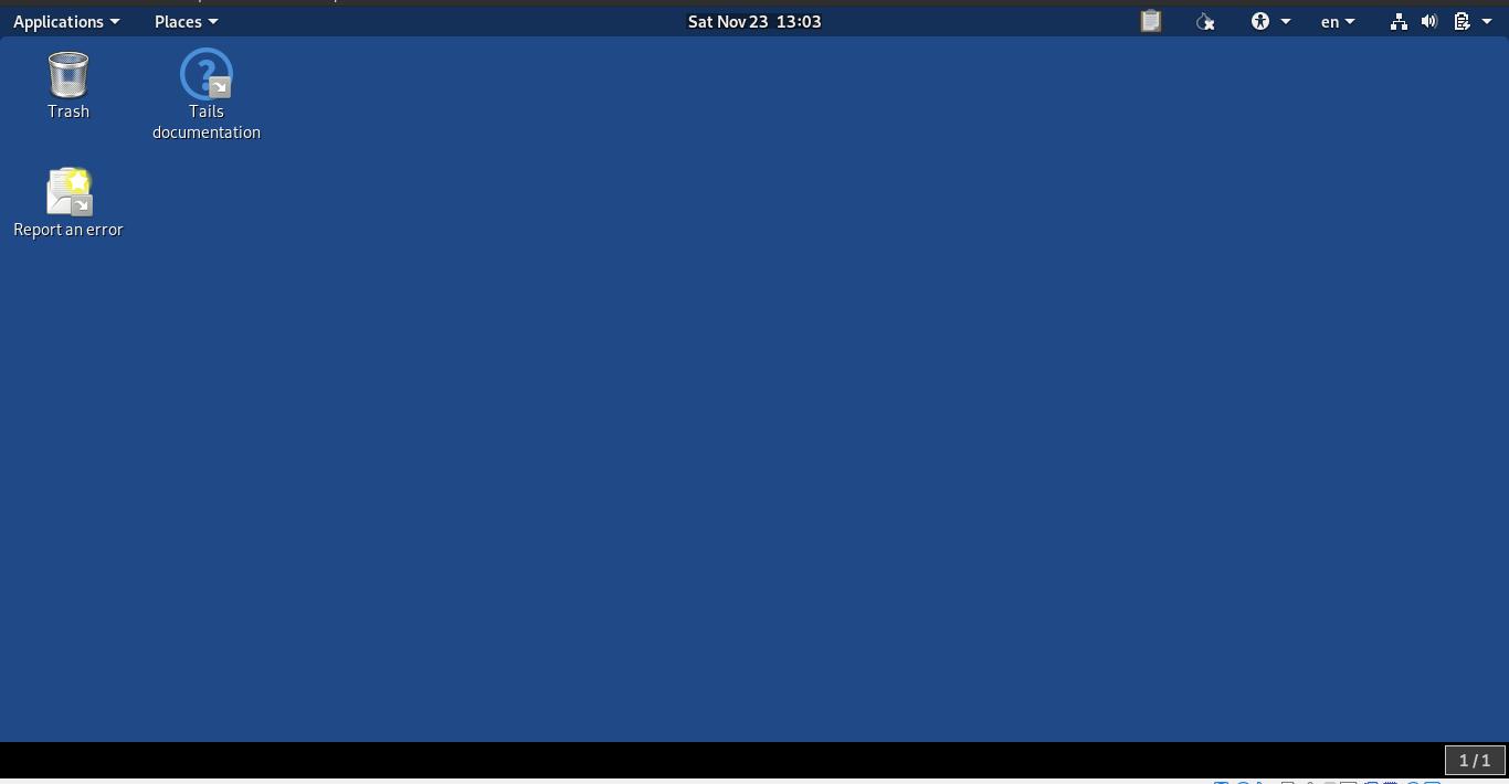 5.- Tails in Virtualbox