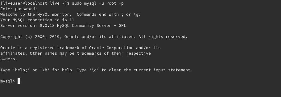 5.- using the mysql_secure_installation script