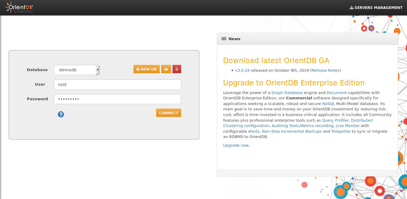 6.- OrientDB web interface