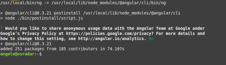 1.- Install Angular on Ubuntu 20.04 / Debian 10