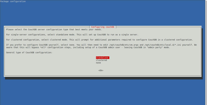 2.- Configuring Couchdb on Debian 10