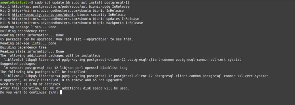 2.- Install PostgreSQL on Ubuntu 18.04
